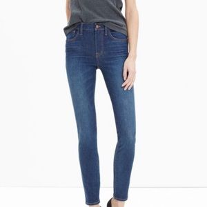 Madewell High Riser Skinny Jeans Surfside Wash